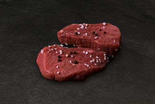 Huft Steaks vom Bull Beef
