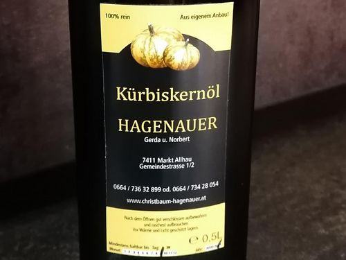 Kürbiskernöl 0,5l - Fam. Hagenauer