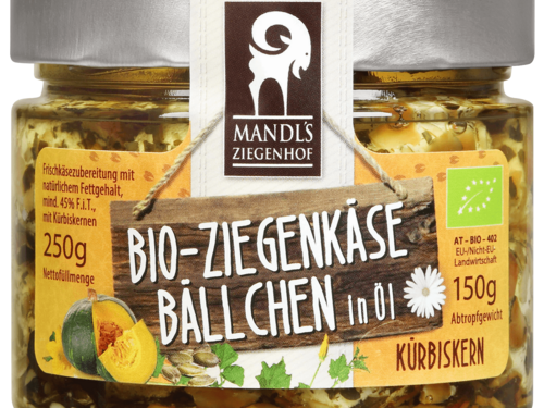 Mandl's Bio Ziegenkäsebällchen Kürbiskern 250g