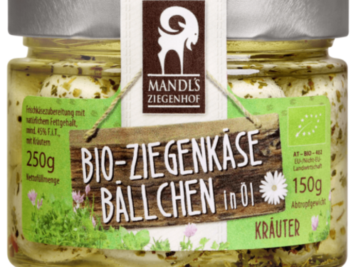 Mandl's Bio Ziegenkäsebällchen Kräuter 250g