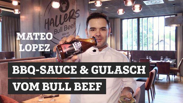 BBQ-Sauce und Gulasch vom Bull Beef